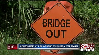 Homeowners at risk of being stranded after storm