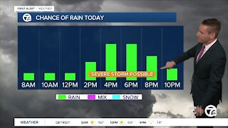 Metro Detroit Forecast: Thursday thunderstorms after 2pm, some could be severe