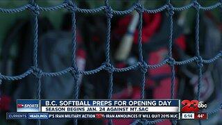 B.C. softball preps for season opener