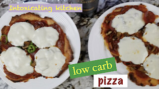 Fathead low carb pizza with homemade dough