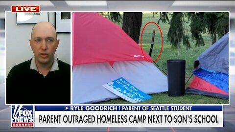 This is How Little Seattle Schools Care for Children - Homeless Near School Has SAMURAI SWORD
