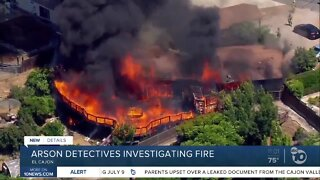 Arson detectives investigating El Cajon house fire