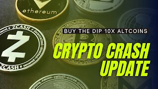 CRYPTO CRASH 2021 UPDATE! 10X ALTCOINS TO BUY