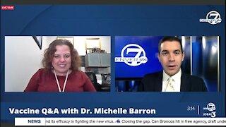 Vaccine Q&A with Dr. Michelle Barron, Colorado's top infectious disease expert