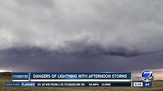 Dangers of lightning with afternoon storms