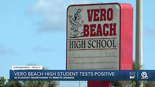 Vero Beach High School student tests positive for COVID-19; 46 other students quarantined