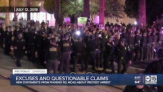 New statements from Phoenix police and MCAO about protest arrest
