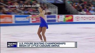 U.S. Figure Skating Championships begin at Little Caesars Arena