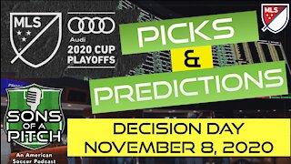 MLS Picks and Predictions - November 8th - Decision Day
