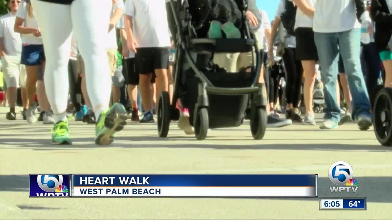 Palm Beach County Heart Walk held in West Palm Beach