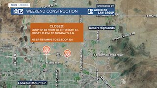 Closures due to construction work expected for Easter weekend