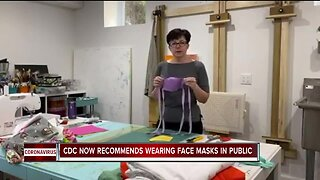 CDC recommends wearing face masks in public