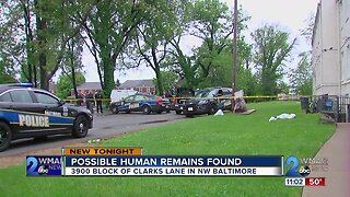 Possible human remains found behind NW Baltimore apartment complex