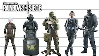 Rainbow 6 | Characters Height Comparison