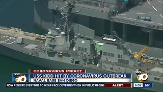 Navy ship dealing with virus outbreak docks in San Diego