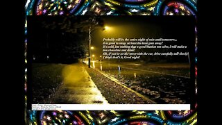 Good evening, it's raining, I think it will not stop, it's cold! [Message] [Quotes and Poems]