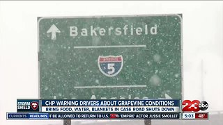 CHP provides helpful tips for drivers commuting through the grapevine