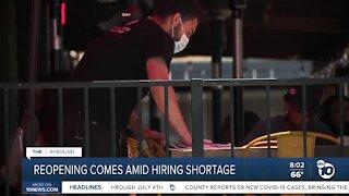 Reopening comes amid hiring shortage