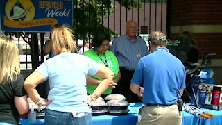 Roswell Park Celebrates Environmental Services workers with free hot meal provided by teen Eagle Scout