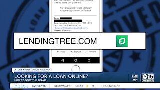 Watch for scams regarding online loans
