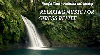 Relaxing Waterfall Music with Nature Sounds  Fall Asleep