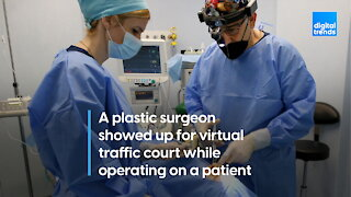 Doctor attends traffic court while in surgery