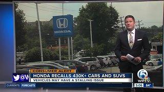 Honda recalls 437K vehicles for fuel-pump issue