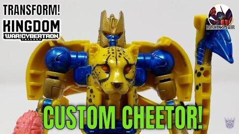 Transform! War for Cybertron Kingdom Cheetor Custom, Larkin's Lair