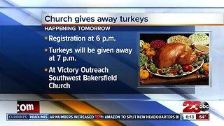 Local church hosting turkey giveaway