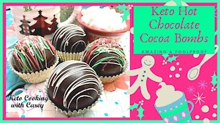 Keto Low Carb Hot Chocolate Cocoa Bombs, Sugar Free & Low Carb