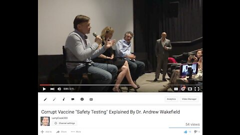 """Corrupt Vaccine """"Safety Testing"""" Explained By Dr. Andrew Wakefield"""