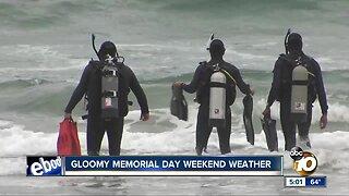 Gloomy Memorial day weekend weather keeps beach attendance low