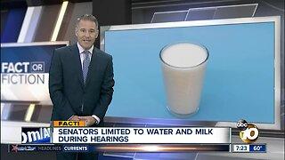 Senators can only drink water & milk?