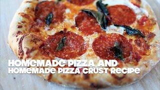 Homemade Pizza with Homemade Pizza Dough Recipe