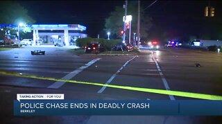 Driver fleeing Berkley police killed after crash in Southfield
