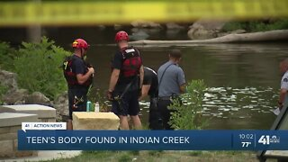Teen's body found in Indian Creek