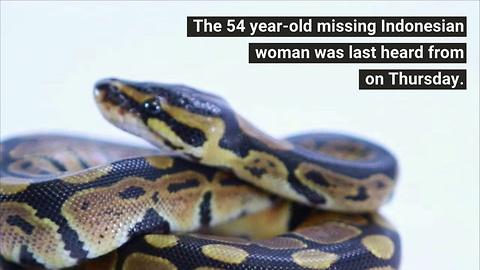 23-foot Python Swallows Woman Whole