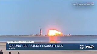 SpaceX test rocket fails