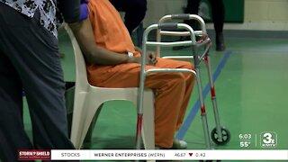 Douglas County Corrections inmates vaccinated at Friday clinic