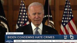 Biden condemns hate crimes