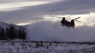 Canadian Chinooks transport Spartan Paratroopers