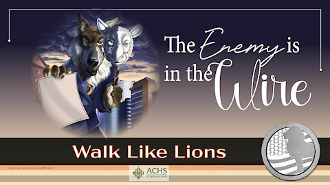 """""""The Enemy is in the Wire"""" Walk Like Lions Christian Daily Devotion with Chappy May 25, 2021"""