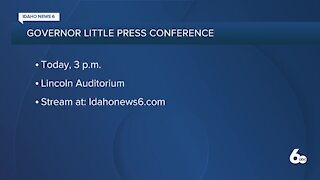 Gov. Brad Little holding press conference on COVID-19 Monday