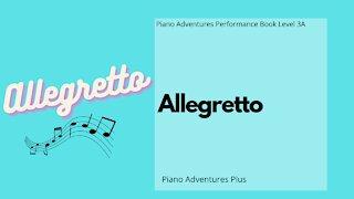 Piano Adventures Performance Book 3A - Allegretto