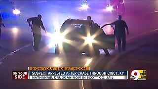 Suspect arrested after multi-state chase