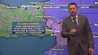 Update on Blizzard warning for Northern Erie County