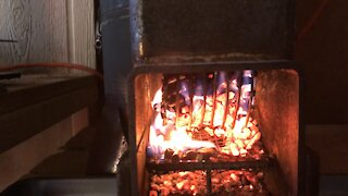 Rocket Stove Pellet heater, Install and Test.