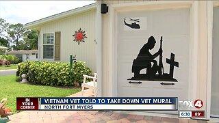 HOA: Vietnam veteran must remove mural honoring vets