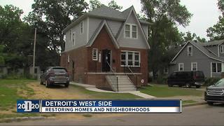 Restoring homes in Detroit's Fitzgerald neighborhood