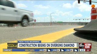 Pasco County Diverging Diamond construction to begin